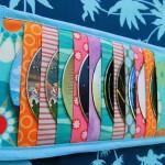 mavi patchwork cd çantası modeli