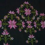 pebme çiçek desenli kaneviçe seccade modeli
