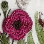 pembe çiçek brezilya nakışı örneği