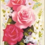 pembe çiçek desenli dekupaj örneği
