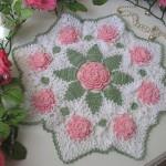 pembe çiçek motifli komidin danteli modeli