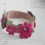 pembe çiçekli saç bandı modeli