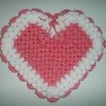 pembe beyaz kalpli kasnak lif modeli