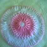 pembe beyaz yvarlak sabun bezi modeli