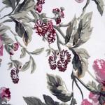 pembe gri çiçekli döşemelik kumaş modeli