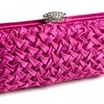 pembe renkli şık abiye çanta modeli