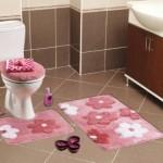 pembe renkli banyo paspas modeli