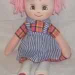 pembe saçlı şirin bez bebek modeli