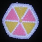 pembe sarı çarkıfelek kasnak lif örneği