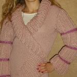 pudra rengi selanik örgülü volanlı hırka modeli