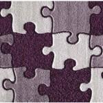 puzzle desenli shaggy halı modeli