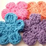rengarenk çiçek şeklinde sabun bezi modelleri