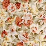 rengarenk çiçek desenli döşemelik kumaş modeli