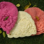 rengarenk çiçekli örgü bere modeli