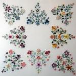 rengarenk çiçekli brezilya nakışı örneği