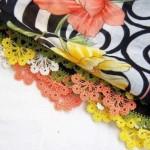 rengarenk çiçekli yeemni oyası modeli