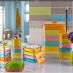 rengarenk çok şık banyo seti modeli