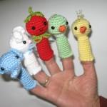 rengarenk örgü parmak kukla modelleri