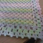 rengarenk nohut örgülü battaniye modeli