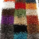 rengarenk shaggy halı modeli