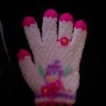 renkli çiçek desenli eldiven lif modeli