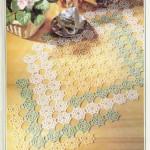 renkli dantel şömen tabla modeli
