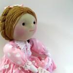 saçları örgülü bez bebek modeli