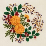 sarı çiçekli brezilya nakışı örneği