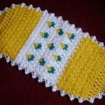 sarı çiçekli uzun sabun bezi modeli