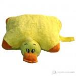 sarı ördek desenli peluş yastık modeli