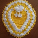 sarı beyaz sabun bezi modeli