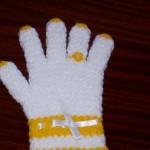 sarı beyaz yüzüklü eldiven lif modeli