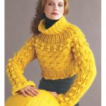 sarı boğazlı bayan kazak modeli