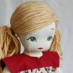 sarı ip saçlı bez bebek modeli