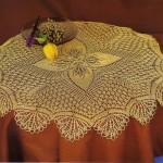 sarı kelebek desenli fiskos masa örtüsü modeli