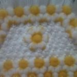 sarı papatyalı incili kasnak lif örneği