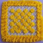 sarı ponponlu kasnak lif modeli