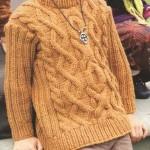 sarı renkli saç örgü erkek çocuk kazağı