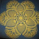 sarı renkli yuvarlak gümüşlük dantel örneği