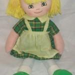 sarı saçlı bez bebek modeli