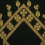 sarı simli laleli etamin seccade modeli
