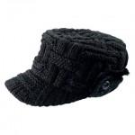 siyah örgü erkek şapkası