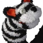 siyah beyaz ayıcıklı kukla modeli