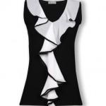 siyah beyaz volanlı penye modeli