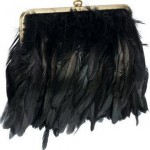 siyah tüylü abiye çanta modeli