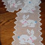 tavşan desenli dantel şömen tabla modeli