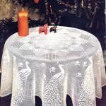 tavuzkuşu desenli fiskos masa örtüsü modeli