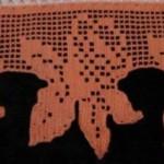 turuncu çiçek desenli kenar danteli modeli