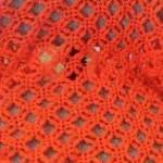 turuncu çiçek motifli fıstıklı şal modeli