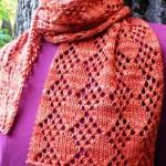 turuncu ajurlu bayan atkı modeli